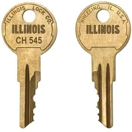 CH545   replacement keys