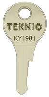 Altech Teknic (Loreto)  KY1981  replacement keys