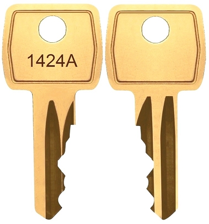 Baco # 1424A replacement keys