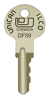 Ilco Unican  # DF59    replacement keys