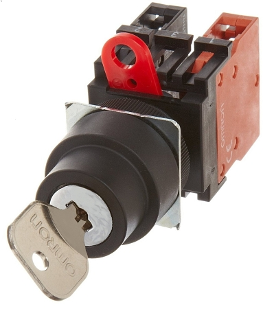 Omron Key Switch,  22mm